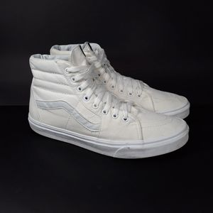 Vans High Top Sk8 White Sneakers Sz 12